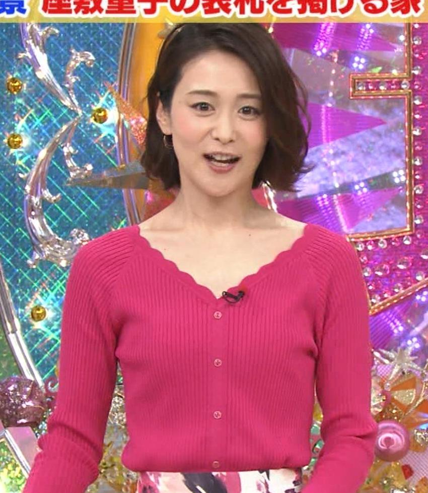森葉子アナ 細身ニット乳キャプ・エロ画像4