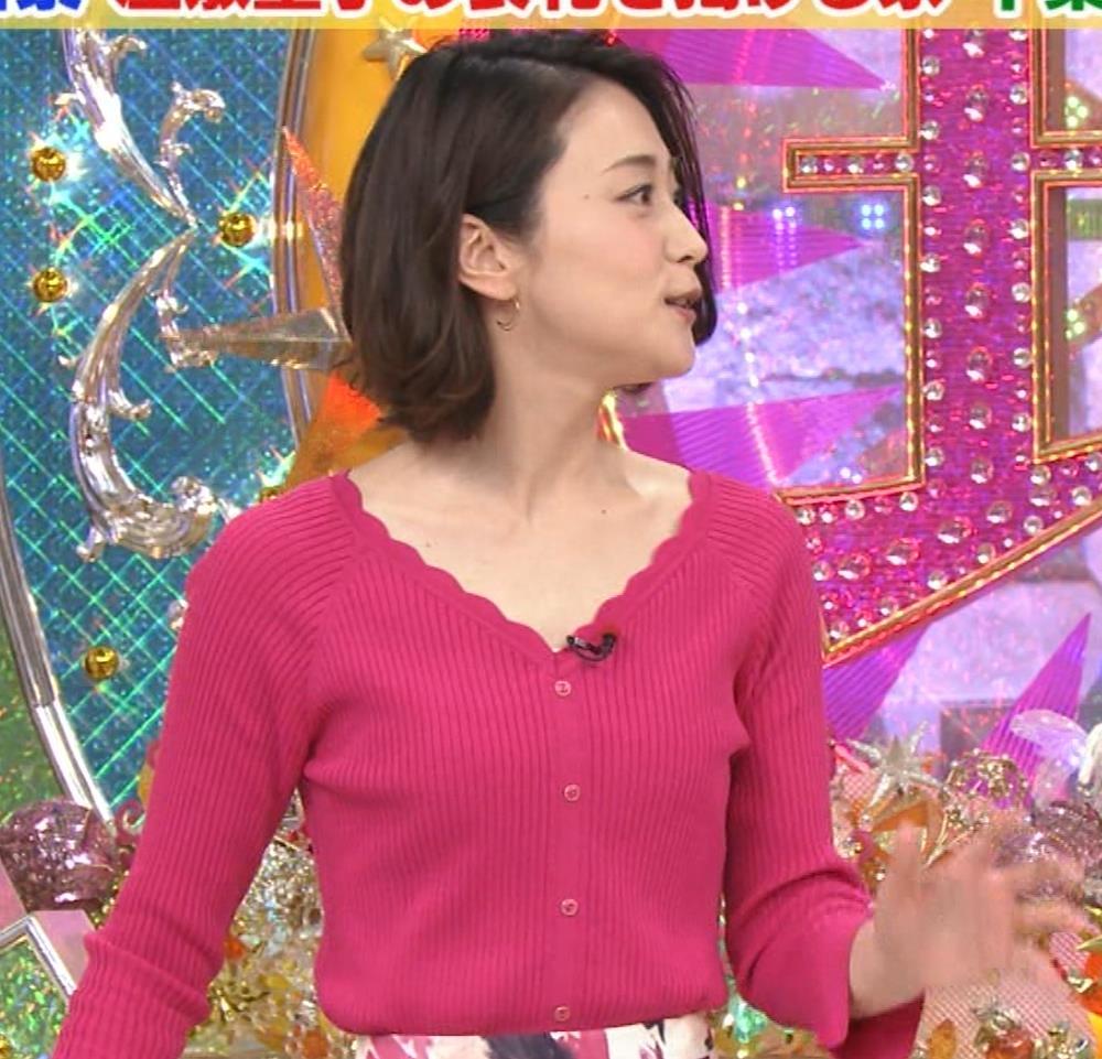 森葉子アナ 細身ニット乳キャプ・エロ画像5