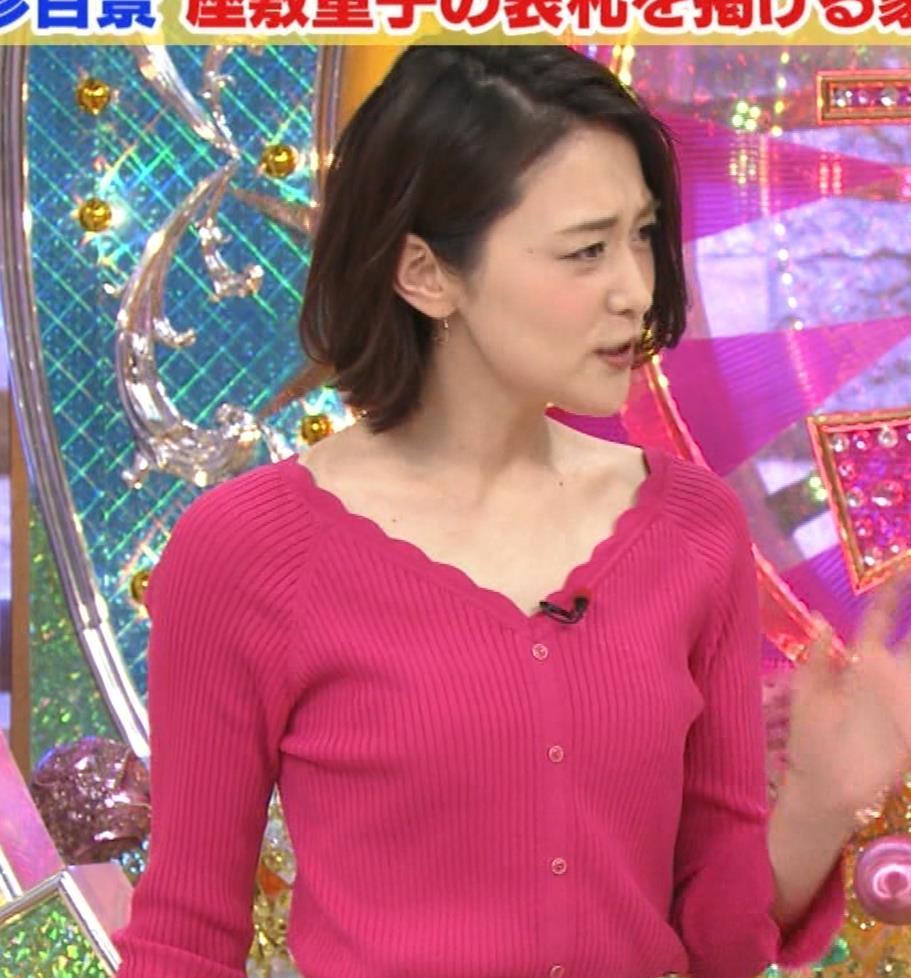 森葉子アナ 細身ニット乳キャプ・エロ画像6
