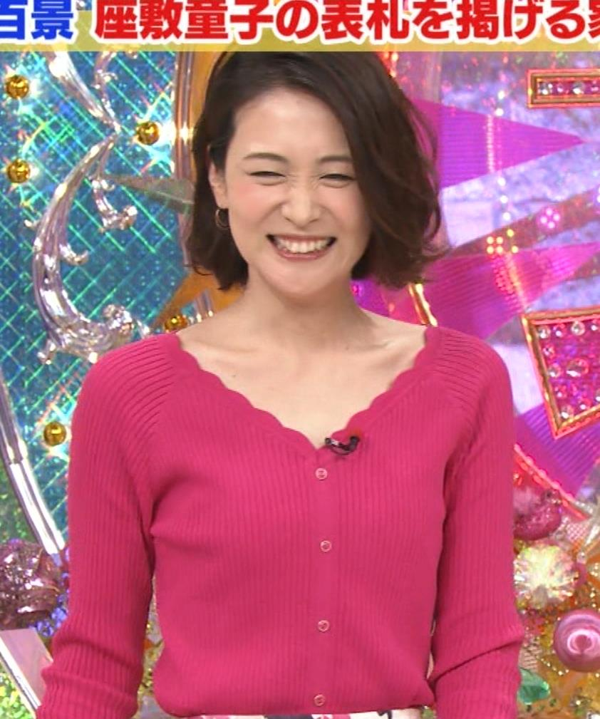 森葉子アナ 細身ニット乳キャプ・エロ画像8