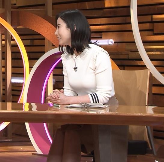 森川夕貴アナ おっぱい&机の下の脚キャプ・エロ画像8