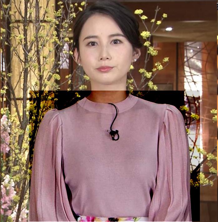 森川夕貴アナ ちょっとブラジャー透けてる(?)エロ衣装キャプ・エロ画像