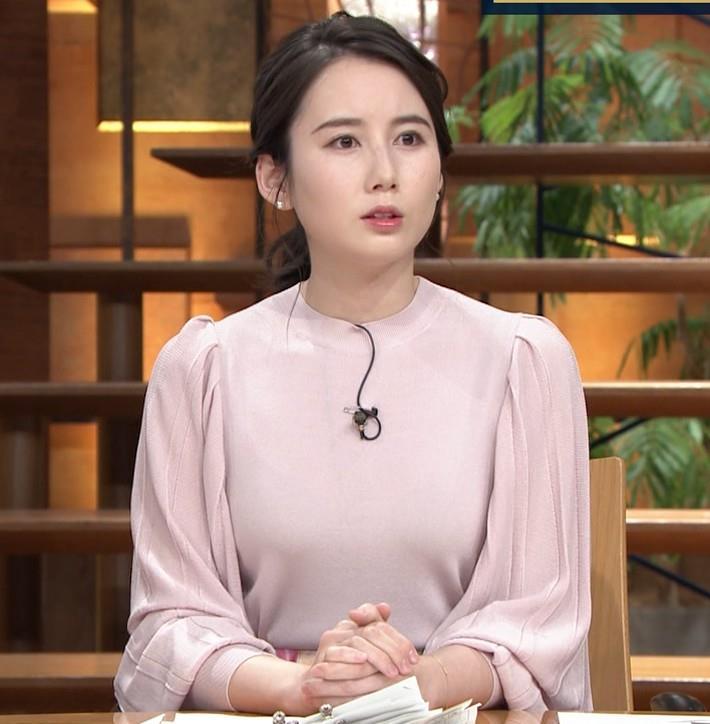 森川夕貴アナ ちょっとブラジャー透けてる(?)エロ衣装キャプ・エロ画像2