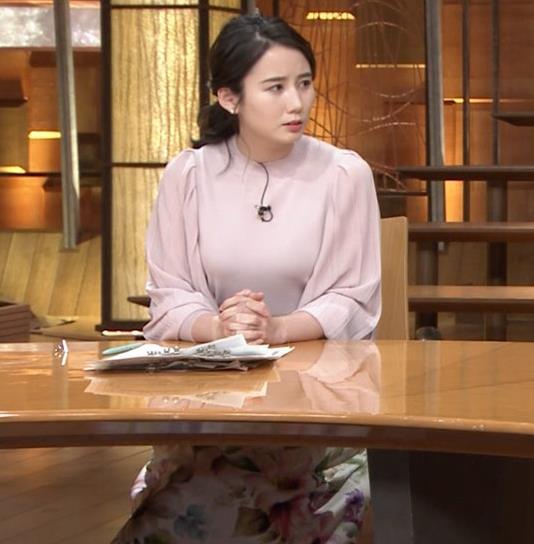 森川夕貴アナ ちょっとブラジャー透けてる(?)エロ衣装キャプ・エロ画像15