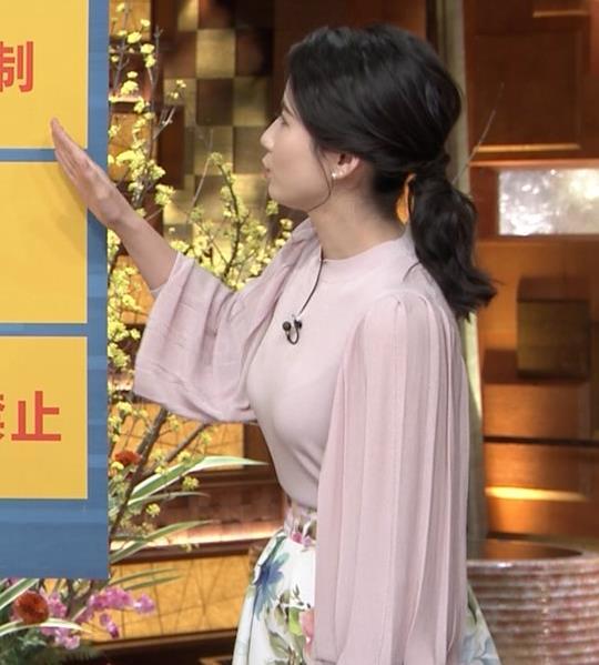 森川夕貴アナ ちょっとブラジャー透けてる(?)エロ衣装キャプ・エロ画像18