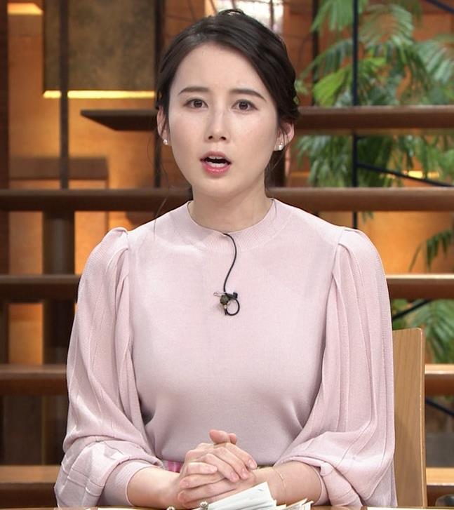 森川夕貴アナ ちょっとブラジャー透けてる(?)エロ衣装キャプ・エロ画像3