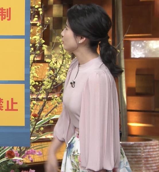森川夕貴アナ ちょっとブラジャー透けてる(?)エロ衣装キャプ・エロ画像8