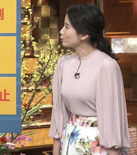 森川夕貴アナ ちょっとブラジャー透けてる(?)エロ衣装キャプ・エロ画像10