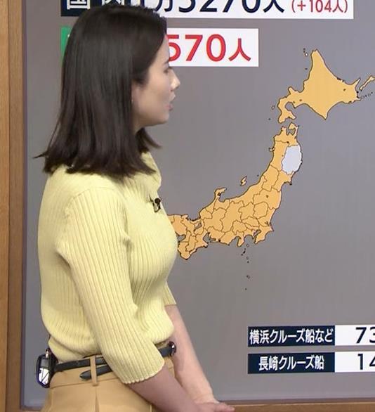 森川夕貴アナ ニットおっぱいキャプ・エロ画像2