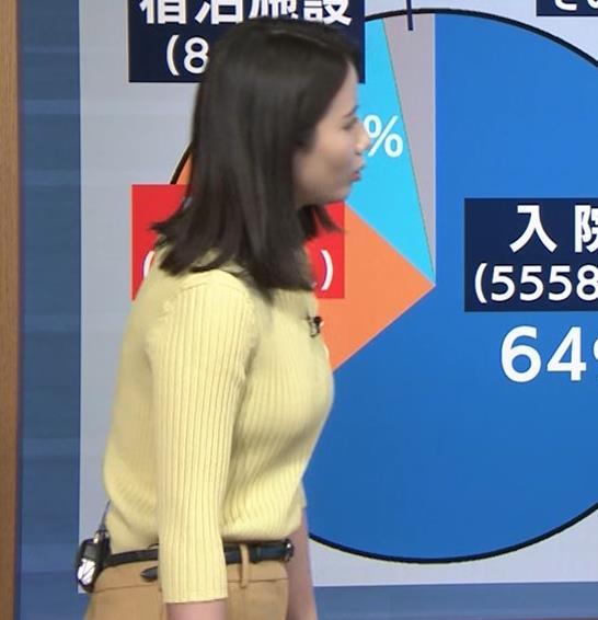 森川夕貴アナ ニットおっぱいキャプ・エロ画像7