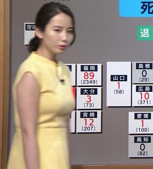 森川夕貴アナ おっぱいが強調されるワンピースキャプ・エロ画像2