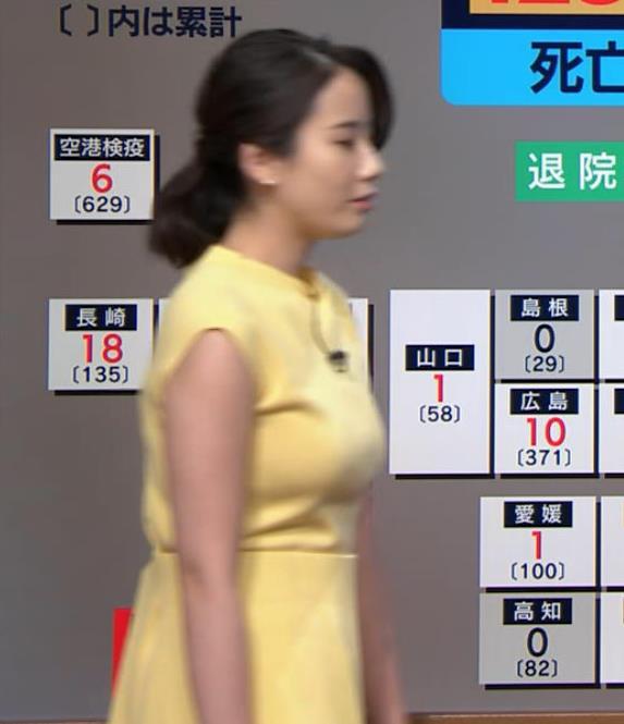 森川夕貴アナ おっぱいが強調されるワンピースキャプ・エロ画像3