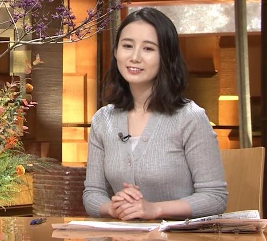 森川夕貴アナ 横乳エロ過ぎキャプ・エロ画像12