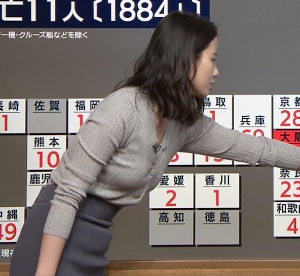 森川夕貴アナ 横乳エロ過ぎキャプ・エロ画像3