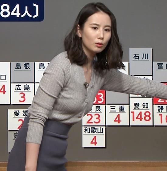 森川夕貴アナ 横乳エロ過ぎキャプ・エロ画像4