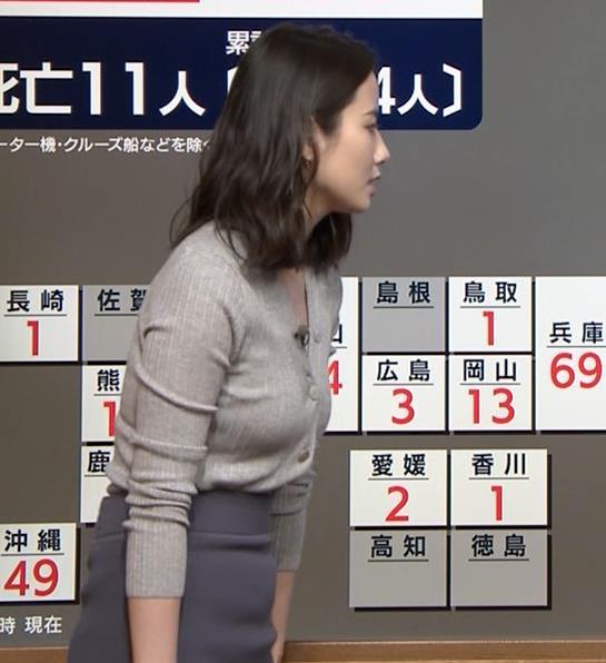 森川夕貴アナ 横乳エロ過ぎキャプ・エロ画像5