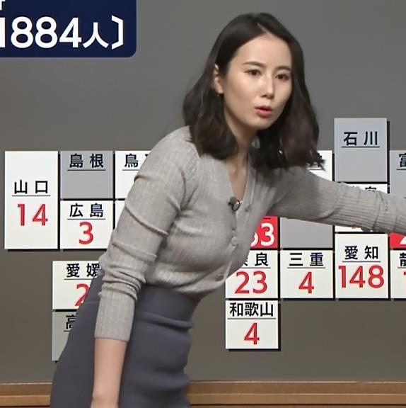 森川夕貴アナ 横乳エロ過ぎキャプ・エロ画像6