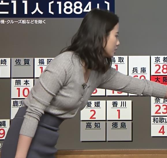 森川夕貴アナ 横乳エロ過ぎキャプ・エロ画像7