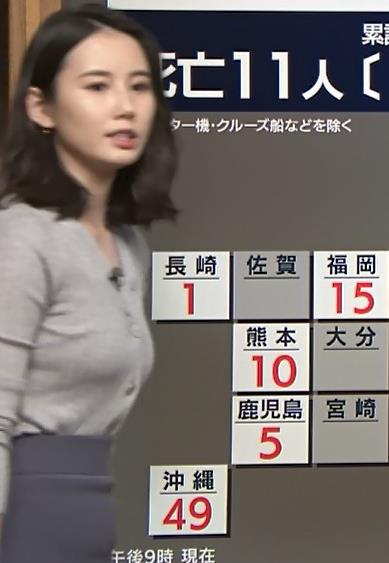 森川夕貴アナ 横乳エロ過ぎキャプ・エロ画像8