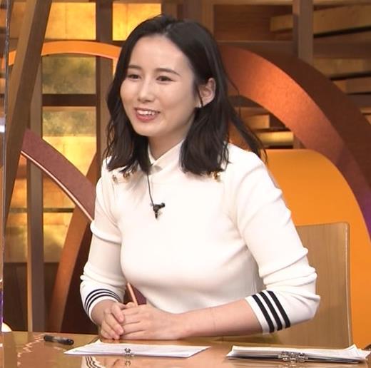 森川夕貴アナ エッチな横乳のアップキャプ・エロ画像8