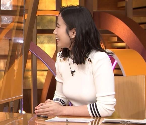 森川夕貴アナ エッチな横乳のアップキャプ・エロ画像9