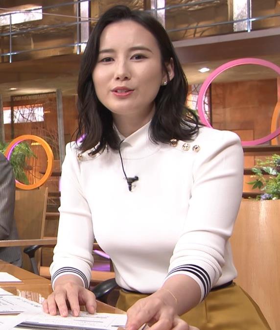 森川夕貴アナ エッチな横乳のアップキャプ・エロ画像10