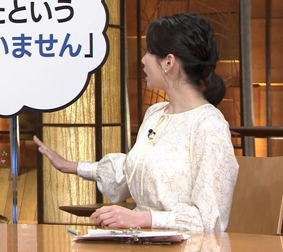森川夕貴アナ 巨乳がわかる横乳キャプ・エロ画像2