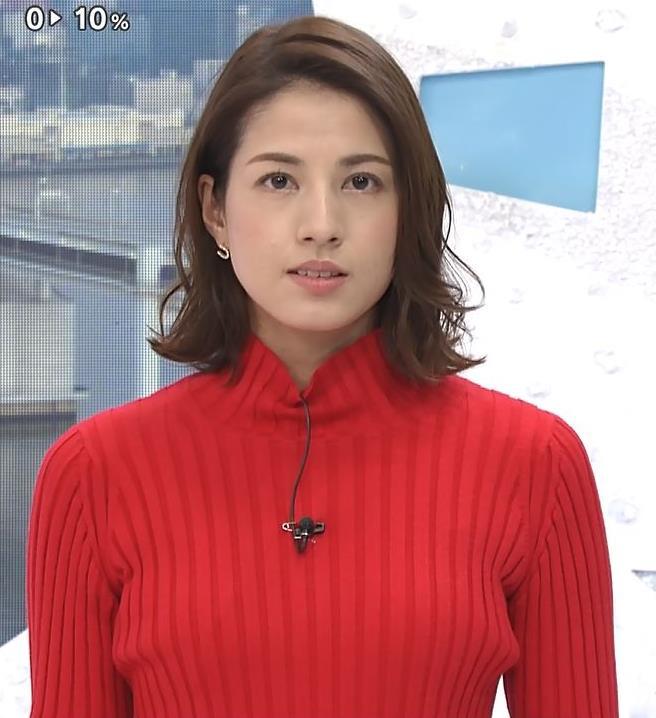 永島優美アナ ニット横乳キャプ・エロ画像