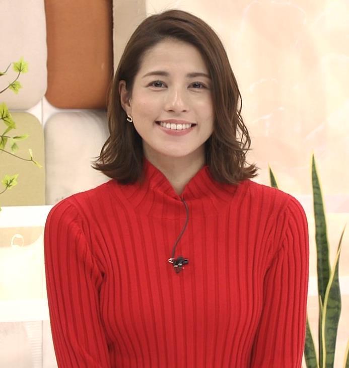 永島優美アナ ニット横乳キャプ・エロ画像4