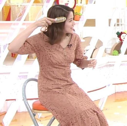 永島優美アナ セクシーなワンピースキャプ画像(エロ・アイコラ画像)