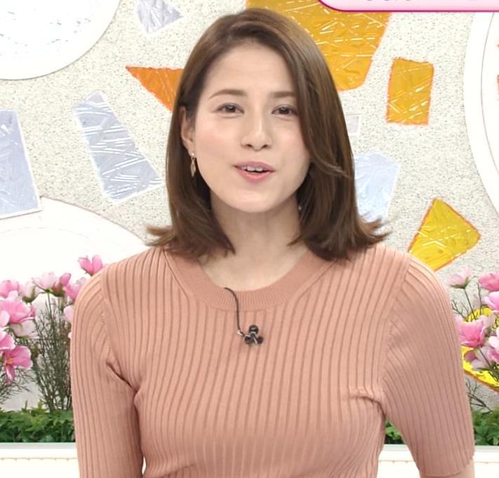 永島優美アナ 朝からエロいニットおっぱいキャプ・エロ画像4