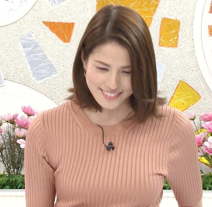 永島優美アナ 朝からエロいニットおっぱいキャプ・エロ画像5