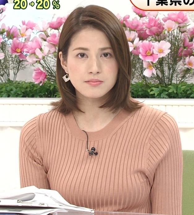 永島優美アナ 朝からエロいニットおっぱいキャプ・エロ画像6