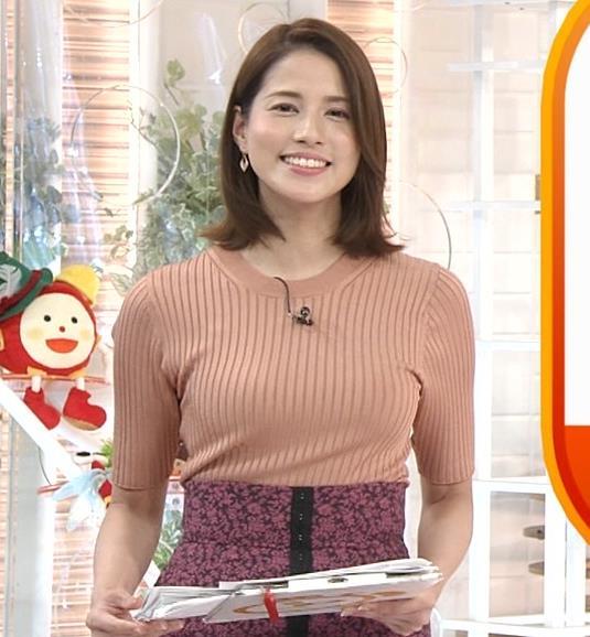 永島優美アナ 朝からエロいニットおっぱいキャプ・エロ画像8