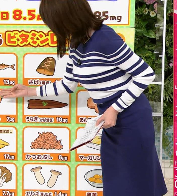 中川安奈アナ タイトなスカートのお尻キャプ・エロ画像