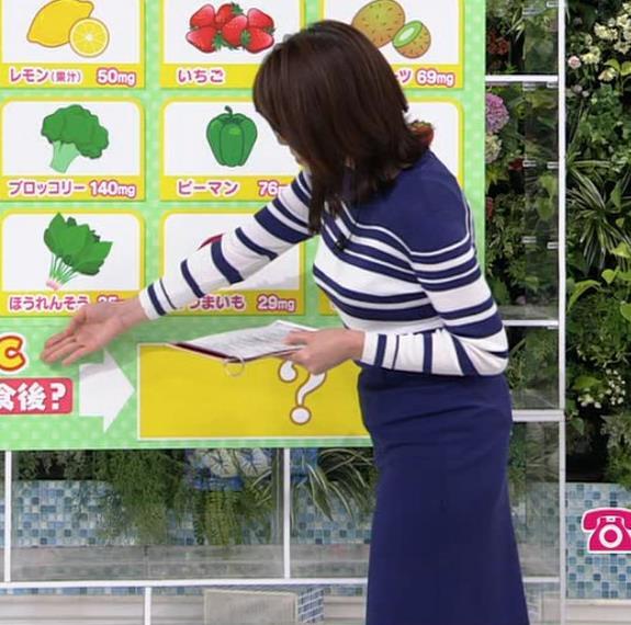 中川安奈アナ タイトなスカートのお尻キャプ・エロ画像3