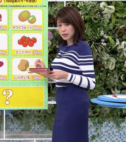 中川安奈アナ タイトなスカートのお尻キャプ・エロ画像4