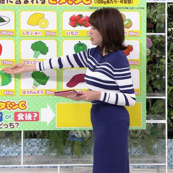 中川安奈アナ タイトなスカートのお尻キャプ・エロ画像7