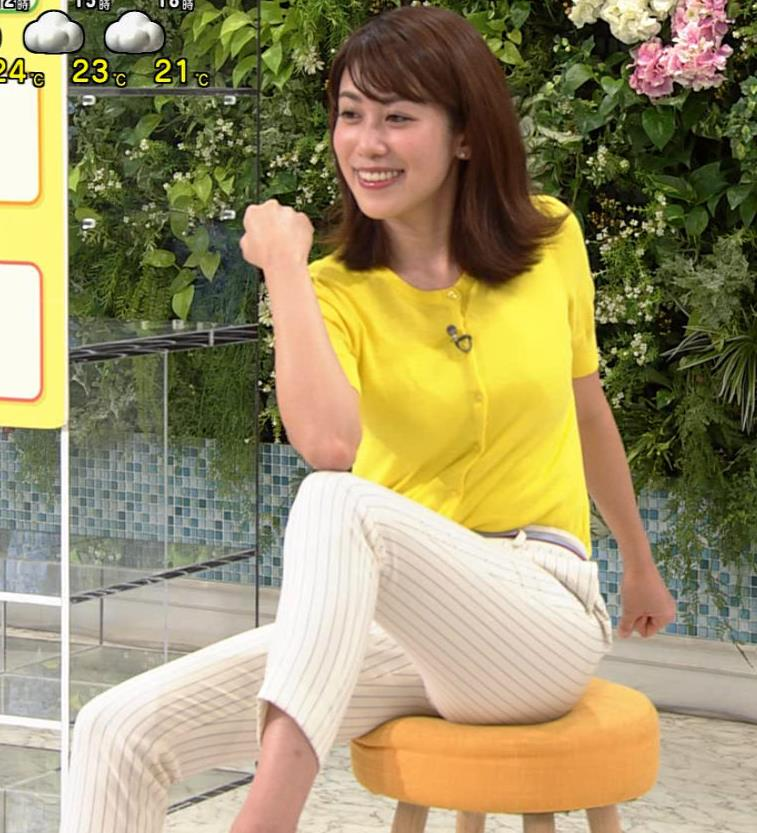 中川安奈アナ タイトパンツでエロいエクササイズキャプ・エロ画像9
