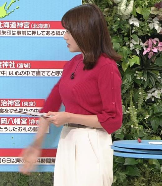 アナ ニット巨乳キャプ・エロ画像2