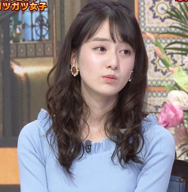 中川梨花 ぶりっ子キャラのニットおっぱい♡キャプ・エロ画像2