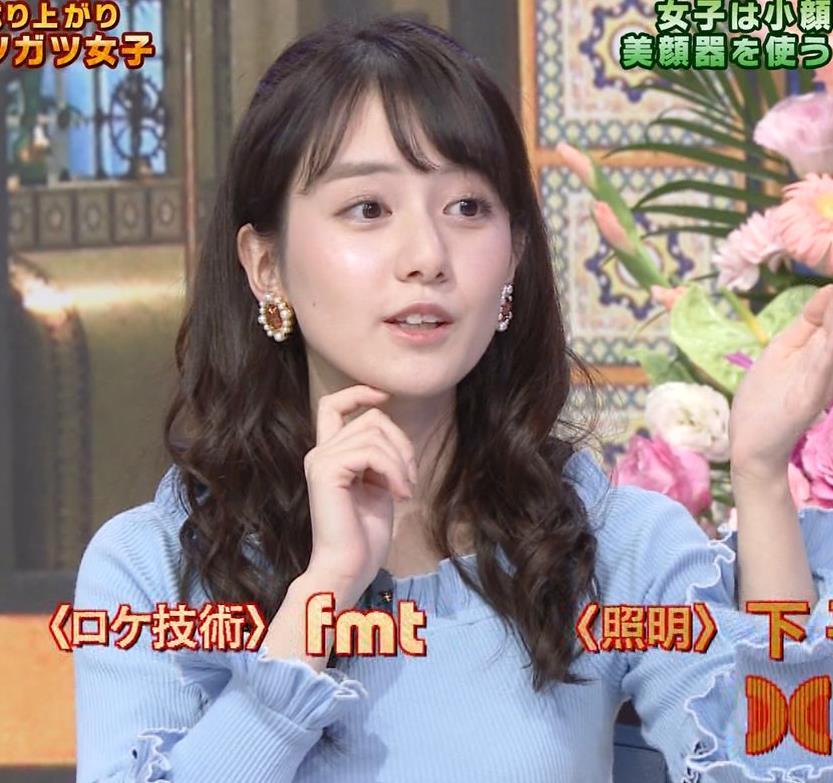 中川梨花 ぶりっ子キャラのニットおっぱい♡キャプ・エロ画像11