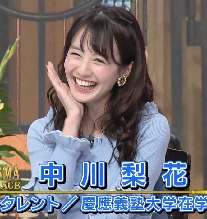 中川梨花 ぶりっ子キャラのニットおっぱい♡キャプ・エロ画像3