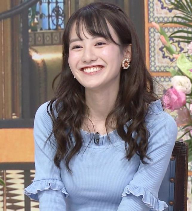 中川梨花 ぶりっ子キャラのニットおっぱい♡キャプ・エロ画像4