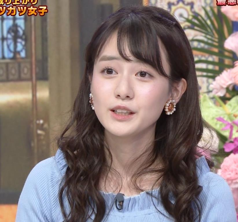中川梨花 ぶりっ子キャラのニットおっぱい♡キャプ・エロ画像9