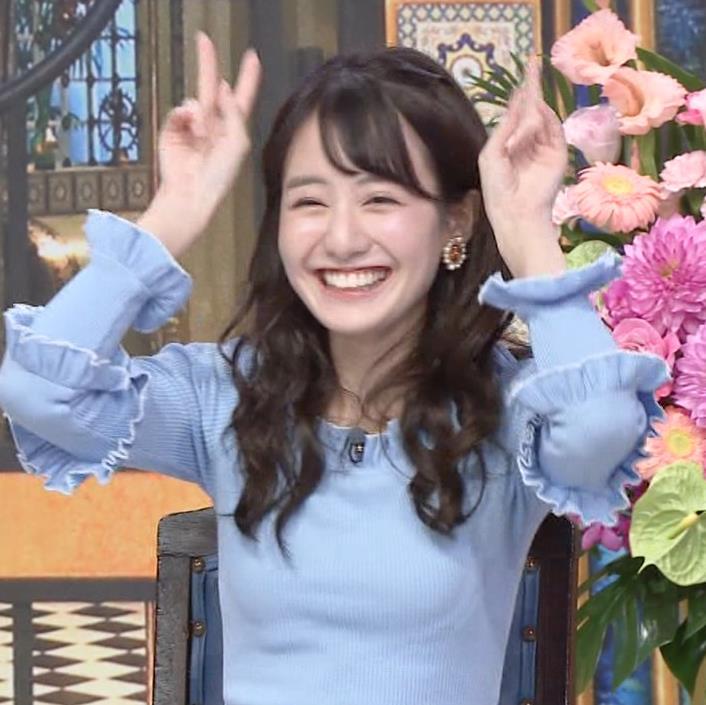 中川梨花 ぶりっ子キャラのニットおっぱい♡キャプ・エロ画像10