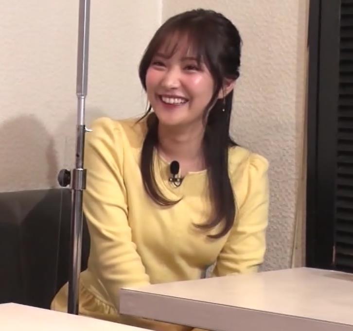 野村彩也子アナ おっぱいが際立つ衣装キャプ・エロ画像7
