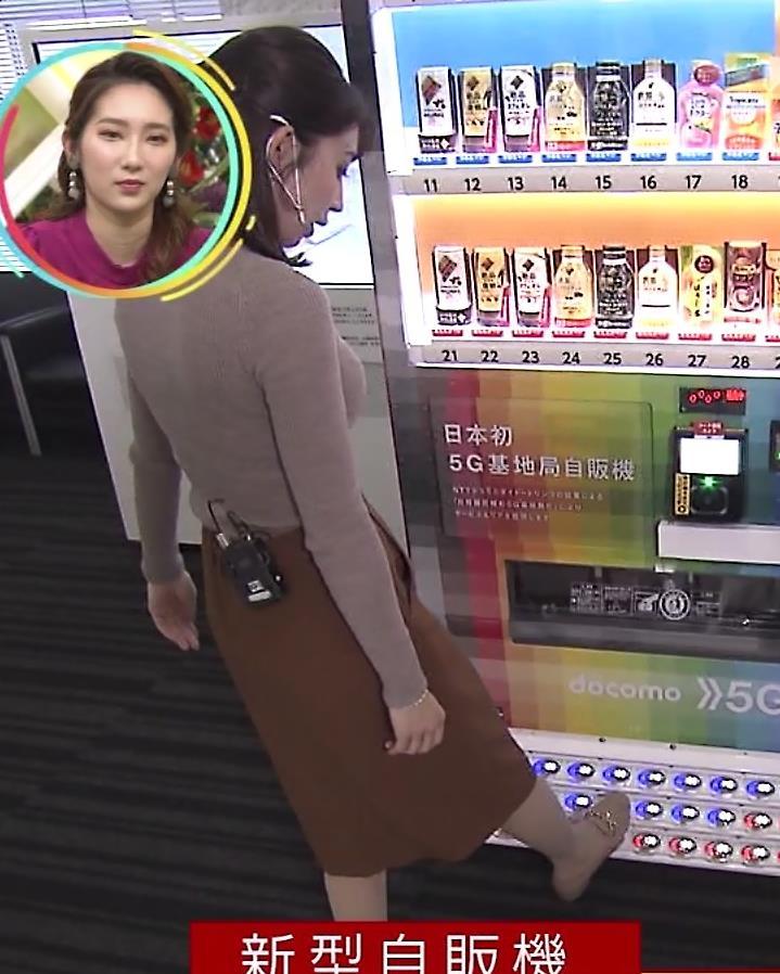 野嶋紗己子アナ エッチなニットおっぱいキャプ・エロ画像10