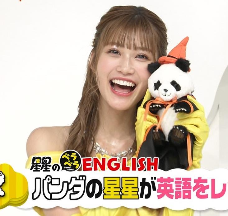 生見愛瑠 肩が露出したドレスキャプ・エロ画像3