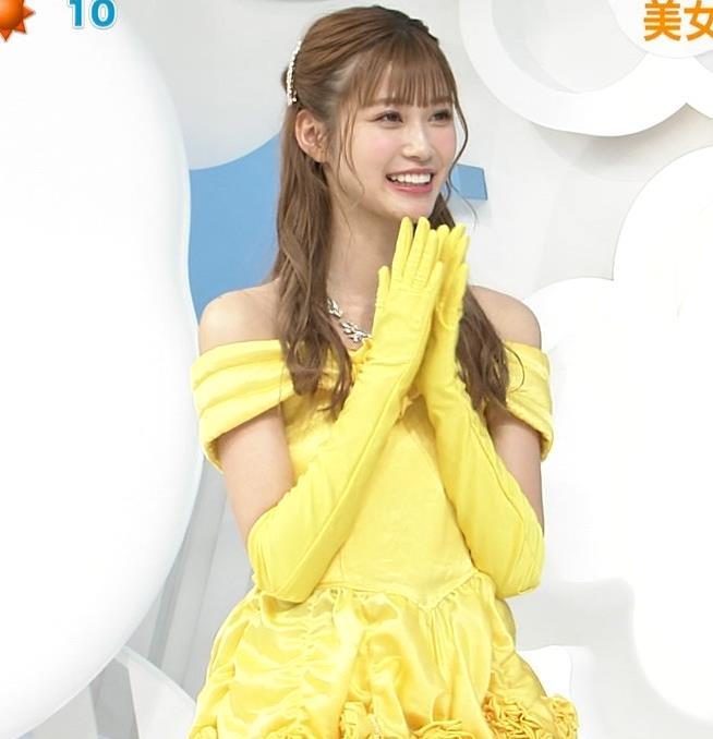 生見愛瑠 肩が露出したドレスキャプ・エロ画像6
